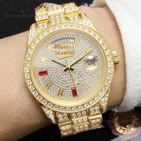 Best Quality Full Diamond Watch Iced Out Watch 2836 Automati...