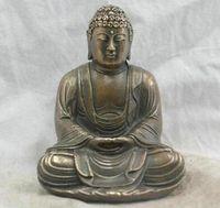 Chinese Folk Culture Handmade bronze Escultura Bronze Statue Sakyamuni Buddha