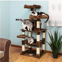 Бесплатная доставка кошка дерево Кондо многоуровневая Китти играть дом сизаль царапин сообщения башня коричневый UPCT15Z мебель и альпинизм инструменты