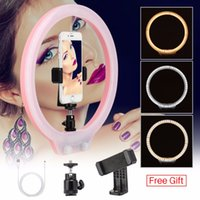 ZM128 128pcs LED Ring Light Dimmable Bi- color Makeup Live Br...