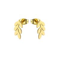 10Pair / lot 감미로운 작은 잎 귀걸이 스테인리스 귀걸이 여자를위한 간단한 올리브 가지 귀 장식 못 보석 여자