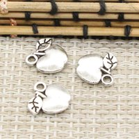 100 pz Charms apple 10 * 10mm Tibetan Argento Placcato Pendenti Monili Antichi Fare DIY Mestiere Handmade