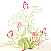 Wholesale origami flowers buy cheap origami flowers 2018 on sale 6 photos wholesale origami flowers for sale 3d pop up origami paper laser cut greeting cards handmade mightylinksfo