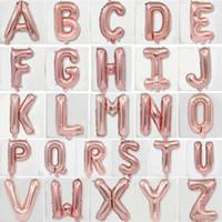 16 pollici Lettera Palloncini Alfabeto oro rosa A-Z Foil Balloon Decorazione fai da te Palloncini Giocattoli Rifornimenti del partito di evento