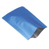100pcs coloré sacs d'emballage en aluminium pur supérieure ouverte sacs d'emballage sous vide de thermoscellage de Mylar pour le stockage des aliments