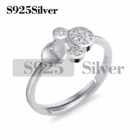 Girls Ring Pearl Findings 925 Sterling Silver Cubic Zirconia...
