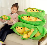 25CM Baby Pea Plush Toys Kawaii Pea Stuffed Plant Pillow Dol...