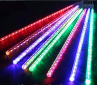 أضواء عطلة ماء النيزك دش المطر أنابيب الصمام ضوء مصباح 100-240 فولت عيد الميلاد سلسلة ضوء الزفاف حديقة الديكور