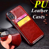 PU Leather Back Cover Wallet Case For Samsung S9 S9 Plus Not...