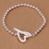 İnce 925 Ayar Gümüş Bilezik, 2021 Yeni Varış Stil Kadınlar Için 925 Gümüş Bağlantı İtalya Kalp Bilezik Erkekler Moda Takı Sıcak Satmak SH173