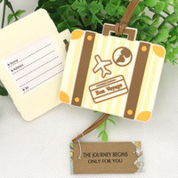 50pcs Let the Journey Begin Vintage Suitcase Luggage Tag Per...