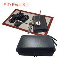Портативный набор для ногтей для ногтей Enail для ногтей для кальянов PID-температура цифровая коробка для даббера с кварцевым нагревателем катушек для воды для стекла из стекла