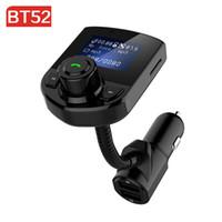 BT52 Автомобильный FM-передатчик Bluetooth Kit 3.1A Автомобильное зарядное устройство USB порт AUX Audio Радио ЖК-дисплей комплект MP3-плеер телефона Handsfree Car