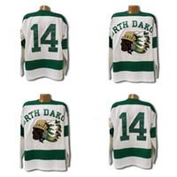 1954 North Dakota Sioux Jersey  14 White Men All Stitched Fighting Sioux  DAKOTA Hockey Jerseys Custom any name and number cbea26545