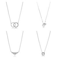 4 стиль аутентичные стерлингового серебра 925 серебряные ожерелья короны я люблю тебя кулон ожерелье для женщин вечеринка свадебные украшения