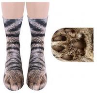 Взрослые животные лапы ноги печатных носки унисекс взрослых животных экипаж творческий 3D печати Спорт Дети цифровая печать моделирование носки 10 цветов