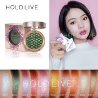 Nouveau HOLD LIVE Palette de fard à paupières mat unique Or Vert Purple Pigment Glitter Palette de fards à paupières polarisée Maquillage coréen