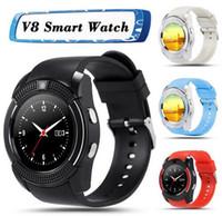 Bonne qualité 8 couleurs V8 Smart Watch Téléphone Bluetooth 3.0 IPS HD Full Circle Display MTK6261D Smartwatches