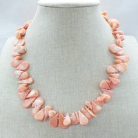 The last one natural pink coral necklace 18inches