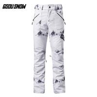 GSOU SNOW Brand Ski Pants Women Skiing Snowboarding Pants Female High Quality Winter Outdoor Sport Waterproof Warm Snow Trousers
