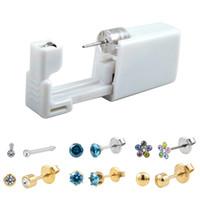 Jetable Safe No Pain stérile oreille dormeuses Stude Gun Piercing Piercer Tool Kit machine Kit oreilles unités Piercing Bijoux