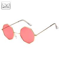 MLLSE marca de moda Octagon óculos de sol para mulheres Retro Metal frame  UV400 óculos de 5a63051cb3
