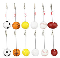 Memo Holder Football Soccer Ball Shape Metal Memo Paper Clip...