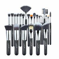 JAF Profesyonel Makyaj Fırçalar Set Kiti Dudak Tozu Vakfı Allık Göz Farı Kirpikler Kapatıcı Fırça Aracı 24 adet / takım
