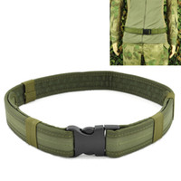 calças de WeSpo 1.5inch 38 milímetros Polícia de Segurança Heavy Duty Belt Tactical combate engrenagem Utility Nylon ajustável Belt For Men