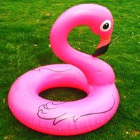 Inflatable Flamingo Pool Float Toys Kids Swimming Ring Circl...
