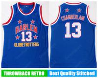 Globetrotters Harlem Costuraram 13 Camiseta Jersey Jersey Camisetas Velocidade de basquete