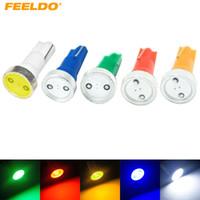 FEELDO 50PCS Super White T5 Power 1W 1LED Car LED Light Wedge Dashboard Light Light Plate Plate Light # 3346