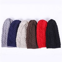 Small twist knitted caps Europe and USA outdoor cold day hat...