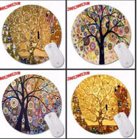 Colorful Beautiful Tree Background Anti- Slip Cute Mouse Pad ...
