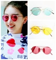 candy color round Sunglasses Women Brand Designer Vintage Lu...