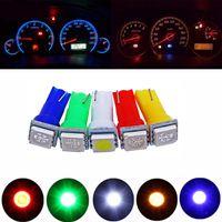 200X 12V 24V T5 5050 1SMD Bombilla de luz de instrumentos LED de cuña Blanco Verde Amarillo Rosa Rojo Azul Auto Tableros de instrumentos Bombillas de indicadores