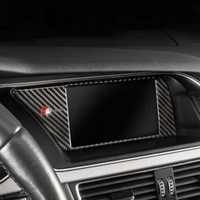 Fibra de carbono Cubierta interna del marco de la pantalla NBT de la consola de navegación GPS del coche Accesorios de auto para Audi A4 B8 A5 09-16 Car styling