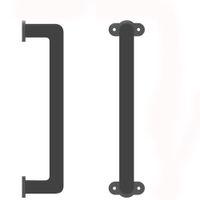 Kinmade 슬라이딩 헛간 도어 핸들 손잡이 잡아 바 캐비닛 옷장에 검은 색 마감으로 우아한 철분