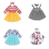 Baby Girls Dresses 0- 24M Baby Floral Dress Multi Color Strip...
