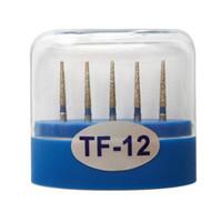1 paquete (5 piezas) TF-12 Dental Diamond Burs Medium FG 1.6M para pieza de mano de alta velocidad dental Muchos modelos disponibles