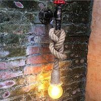 Antique Led Applique Appliques Muraux Corde Couloir Chambre Maison Bar Industrail Vintage Applique Murale Luminaires En Fer
