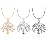 Fashion Tree of Life Rhinestone Pendants Statement Necklaces...