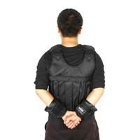 d609b0606e 10kg 50kg cargando chaleco cargado para equipo de entrenamiento de boxeo  ejercicio ajustable Chaqueta negra Swat