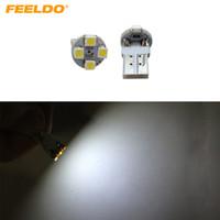 FEELDO 50 PCS Super Branco Eletrodeless Plug T10 168 194 1210/3528 4SMD Carro Wedge Lâmpadas de LED # 1640