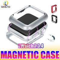 Для Apple Watch Series 6 Магнитный адсорбционный бамперский чехол для iWatch 5 4 чехол 40 мм 44 мм Ультра тонкий легкий металлический кадр крышка Izeso