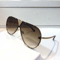 Миллионер Z1060 Солнцезащитные очки с маленькими камнями Ретро Винтаж Дизайнер Солнцезащитные Очки Блестящие Золото Лето Стиль Лазер 1060 Позолоченное Высочайшее качество