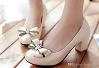 2017 new female shoes spring all- match Korean shoes bow with...