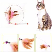 Pet Cat Toy Funny Cats Kitten Pet Teaser Feather Wire Chaser Toy Wand Beads Play NEW Pet Product Top Quality Бесплатная доставка DHL