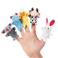 10PCS / Pack 귀여운 만화 손가락 동물 교육 아기 키즈 Stoy 장난감 선물 손가락 인형 천 견면 벨벳