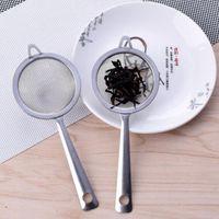 17.5 * 7 سنتيمتر المقاوم للصدأ غرامة شبكة مصفاة مصفاة الدقيق غربال مع مقبض عصير الشاي الجليد مصفاة أدوات المطبخ ZA6475